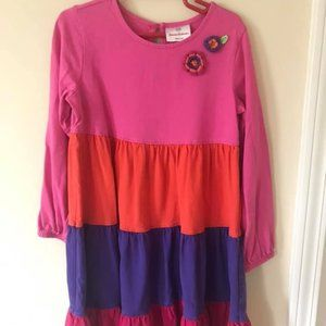 Hanna Andersson Size 120 multi color twirl dress